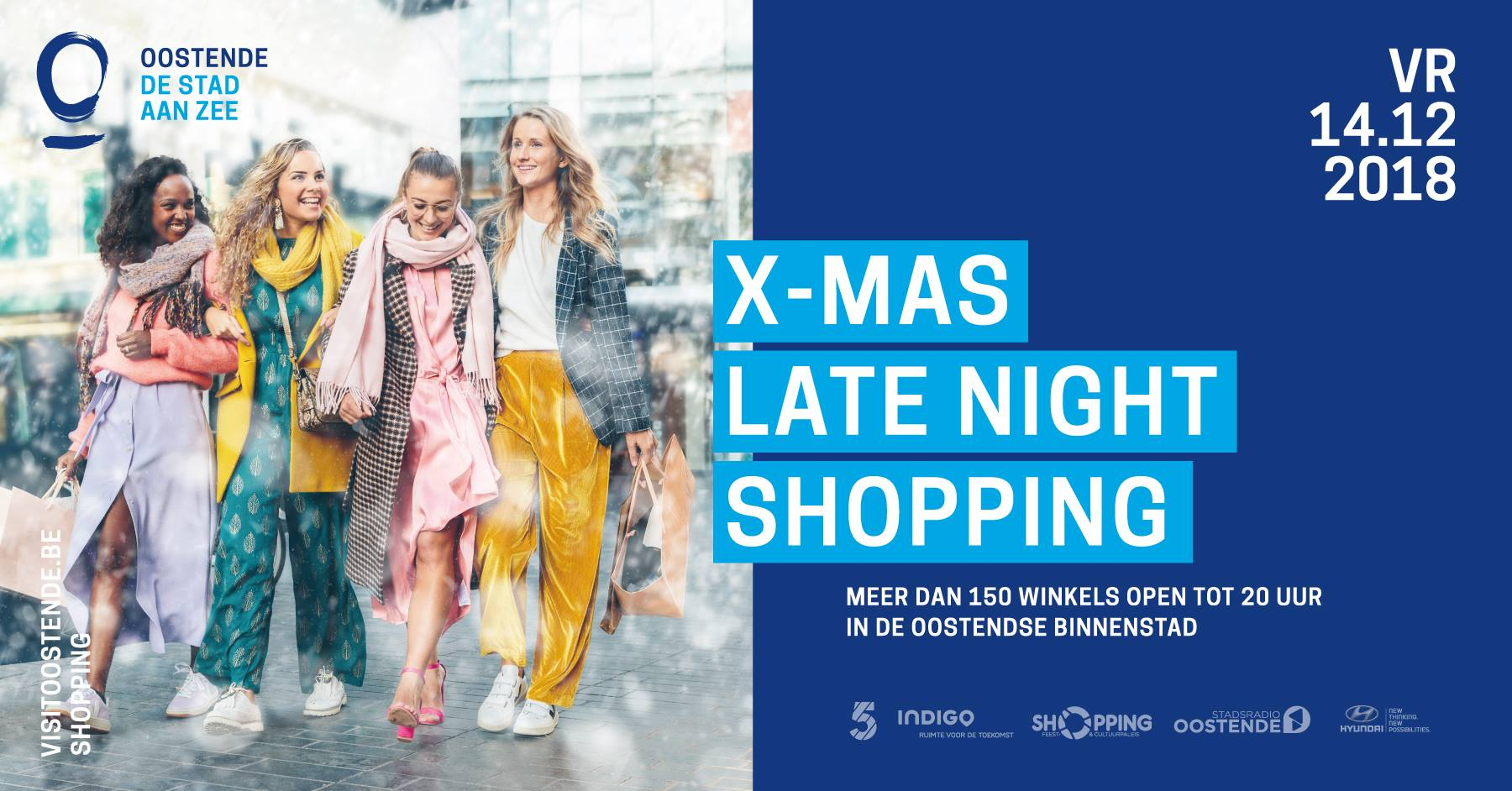 X-mas late night shopping 14 december Oostende