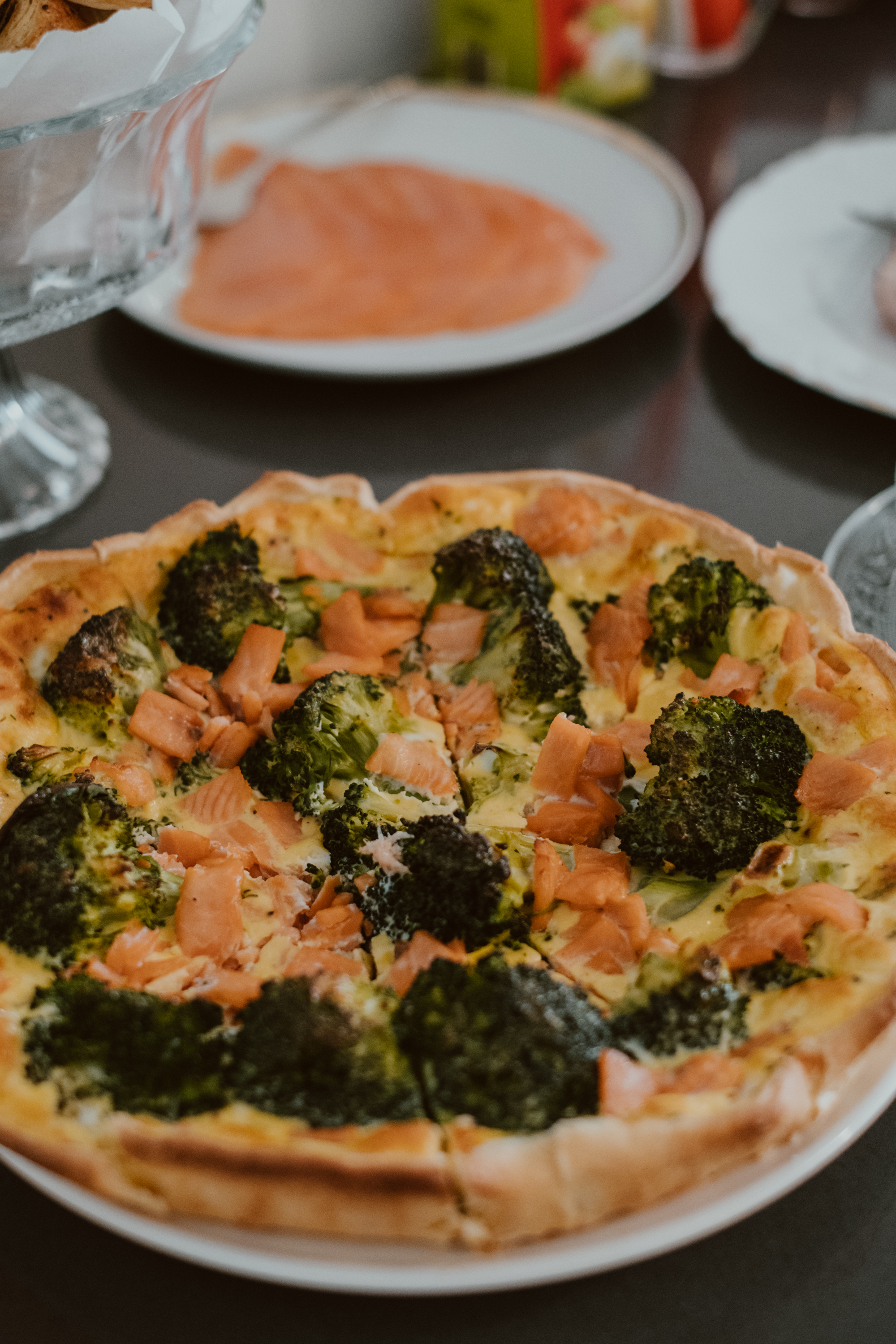 paasbrunch: Quiche met zalm en broccoli