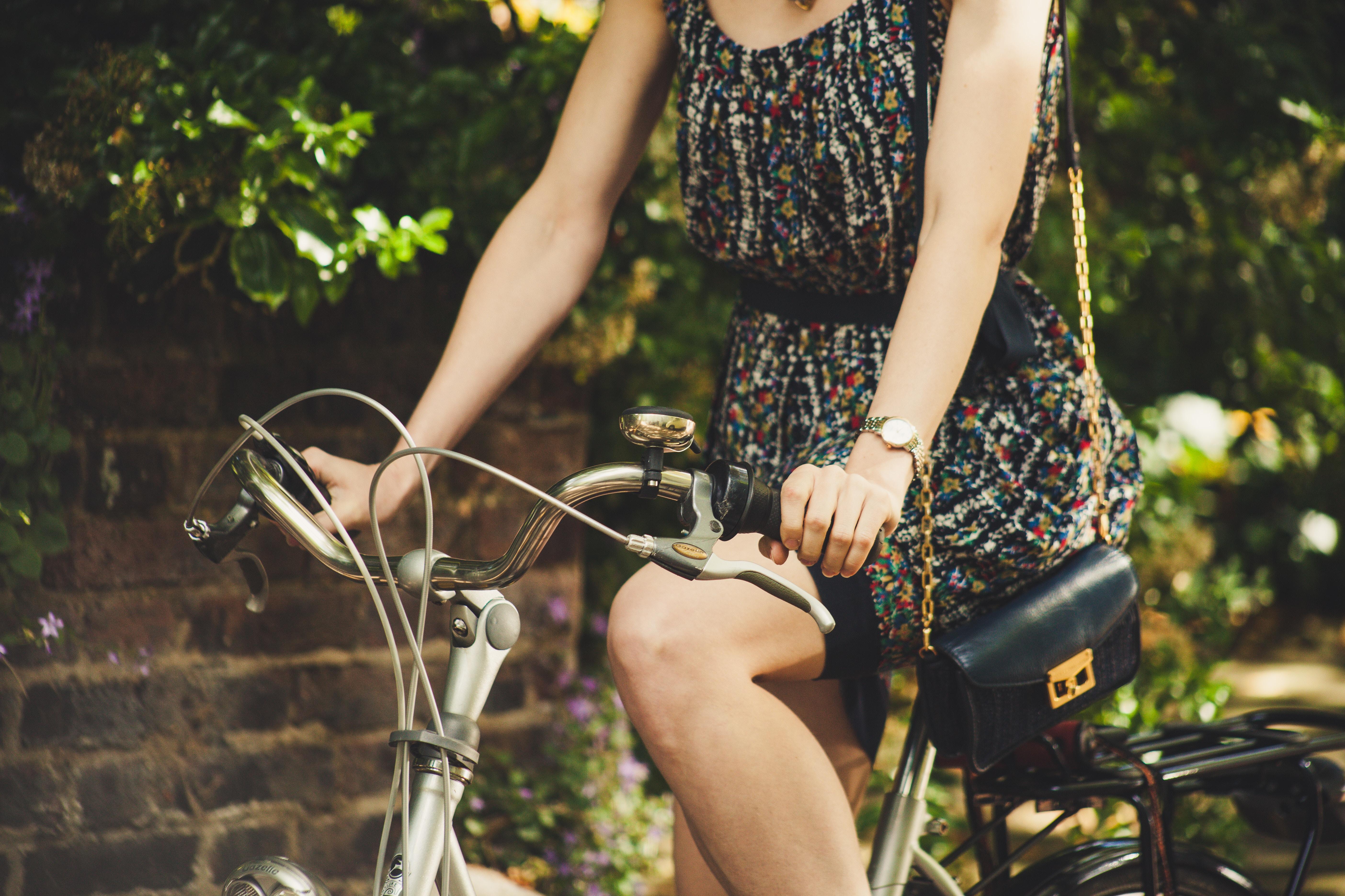unsplash Meisje op de fiets