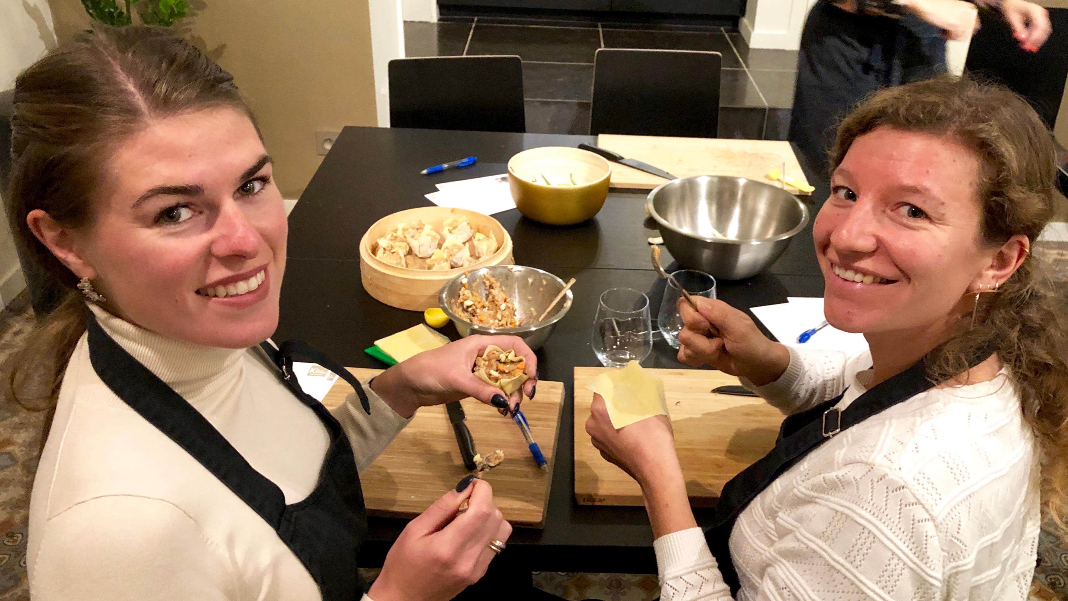 Kookworkshop met Ostend City Queens bij Kim's Kitchen: Chicken Siu Mai