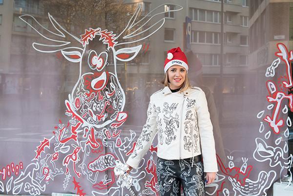 JOOK Doodle etalage tekening Oostende Kerst 2019